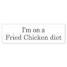 Fried Chicken diet Bumper Bumper Sticker