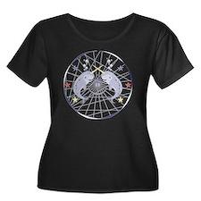 Narwhal Women's Plus Size Dark Scoop Neck T-Shirt