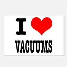 I Heart (Love) Vacuums Postcards (Package of 8)