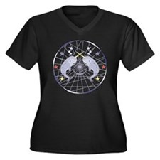 Narwhal Women's Plus Size Dark V-Neck T-Shirt