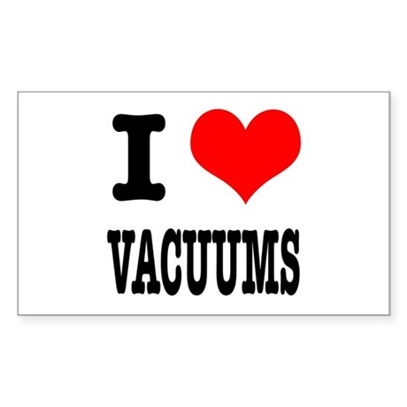 I Heart (Love) Vacuums Rectangle Sticker