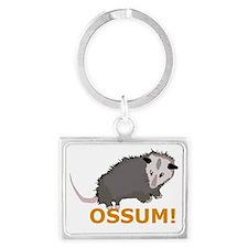 Opossum Landscape Keychain