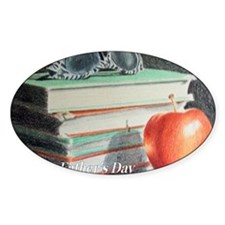 Old Books and Apple Decal