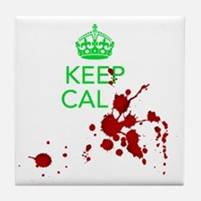 Keep Calm - Zombies - GREEN Tile Coaster