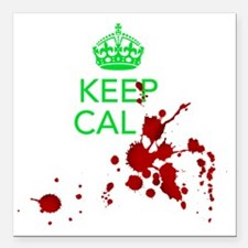 """Keep Calm - Zombies - GR Square Car Magnet 3"""" x 3"""""""