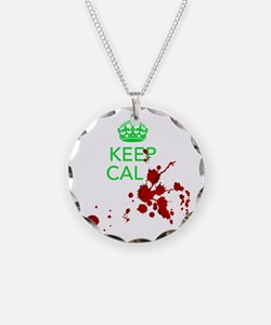 Keep Calm - Zombies - GREEN Necklace