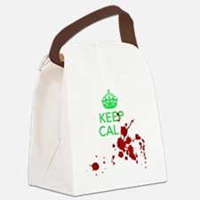 Keep Calm - Zombies - GREEN Canvas Lunch Bag