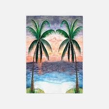 Sunset Palms 5'x7'Area Rug