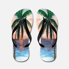 Sunset Palms Flip Flops