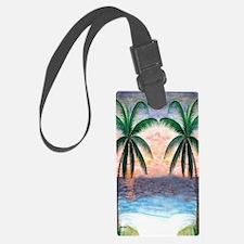 Sunset Palms Luggage Tag