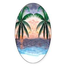 Sunset Palms Decal
