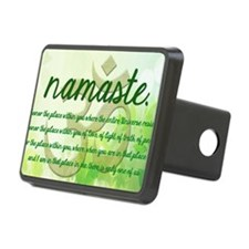 Namaste Mantra Womens T-Sh Hitch Cover