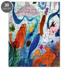 Mermaid and Tropical Fish Party Puzzle