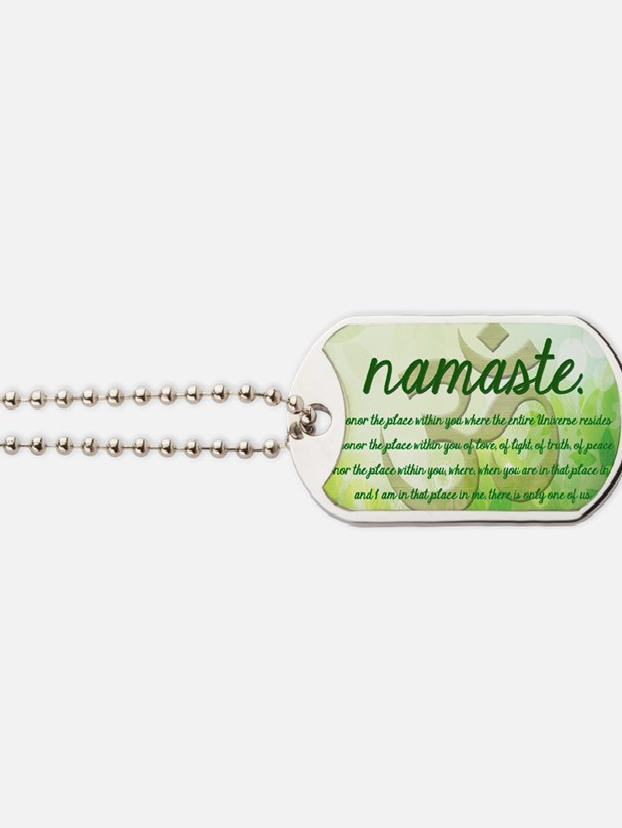 Namaste Greeting Dog Tags