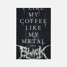 Black Metal Rectangle Magnet