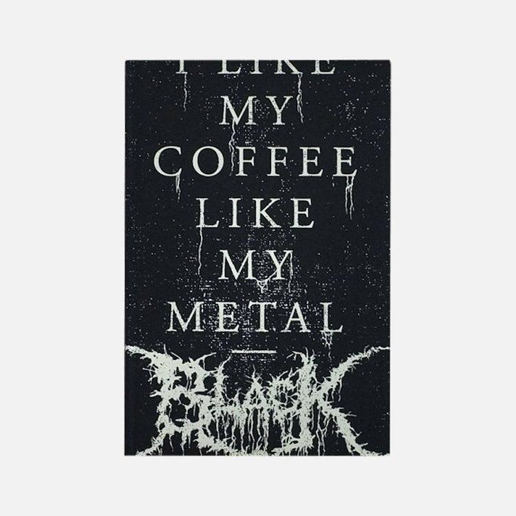 Black Metal Rectangle Magnet