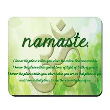 Namaste Greeting Card Mousepad