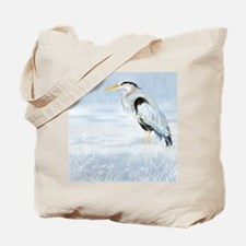 Watercolor Great Blue Heron Bird Tote Bag