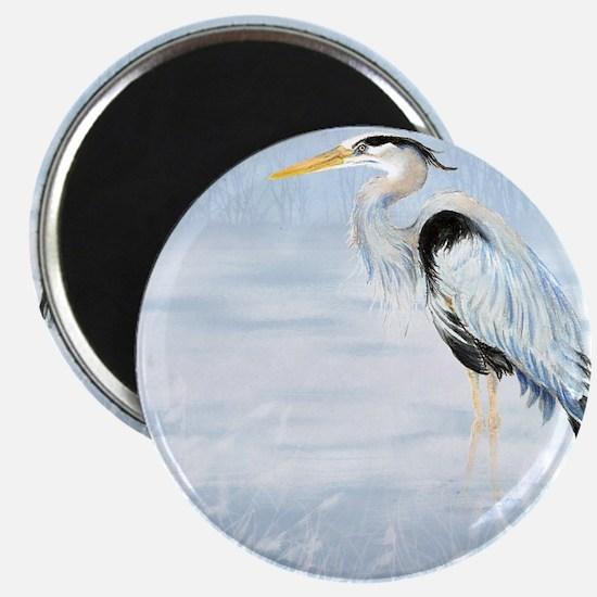 Watercolor Great Blue Heron Bird Magnet