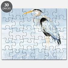 Watercolor Great Blue Heron Bird Puzzle