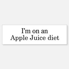 Apple Juice diet Bumper Bumper Bumper Sticker
