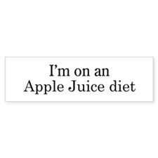 Apple Juice diet Bumper Bumper Sticker