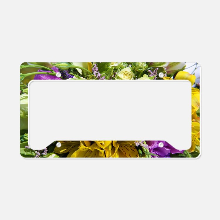 Bouquet License Plate Holder