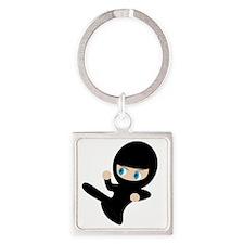 Womb Ninja Square Keychain