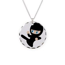 Womb Ninja Necklace Circle Charm