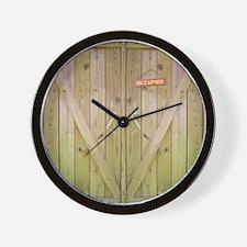 Rustic Occupied Barn Door Wall Clock