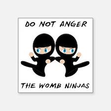 """Womb Ninja Twins Square Sticker 3"""" x 3"""""""