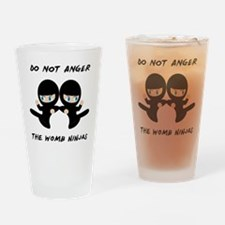 Womb Ninja Twins Drinking Glass