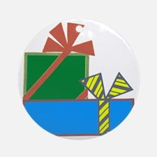 Presents Round Ornament