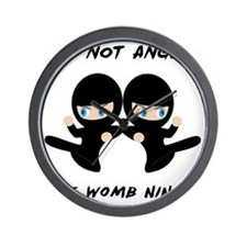 Womb Ninja Twins Wall Clock