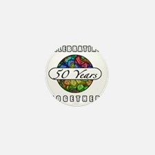 50th Anniversary (Butterflies) Mini Button