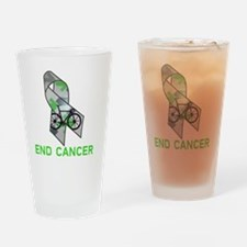 Large Ribbon End Cancer Drinking Glass