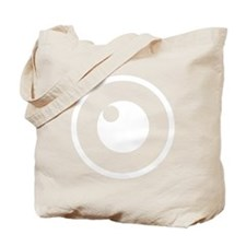White Logo Mark Tote Bag