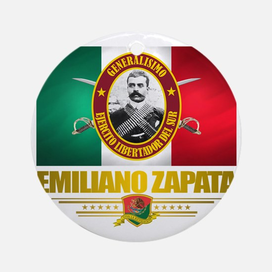 Emiliano Zapata Round Ornament