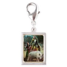 The White Wolf Prophecy Love Silver Portrait Charm