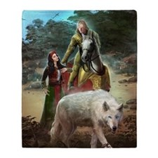 The White Wolf Prophecy Lovers Throw Blanket