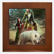 The White Wolf Prophecy Lovers Framed Tile