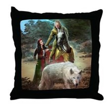 The White Wolf Prophecy Lovers Throw Pillow