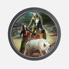 The White Wolf Prophecy Lovers Wall Clock