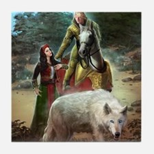 The White Wolf Prophecy Lovers Tile Coaster