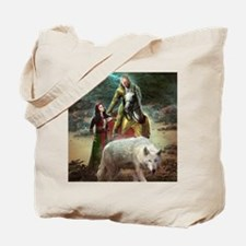 The White Wolf Prophecy Lovers Tote Bag
