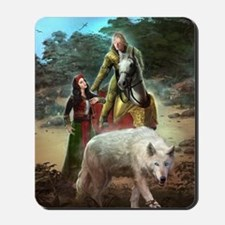The White Wolf Prophecy Lovers Mousepad