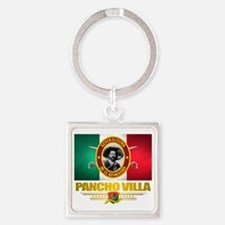 Pancho Villa Square Keychain