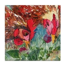 Hen Pecked Tile Coaster