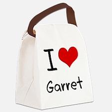 I Love Garret Canvas Lunch Bag