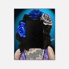 Blue Rose Muertos Pin-up Portrait Picture Frame